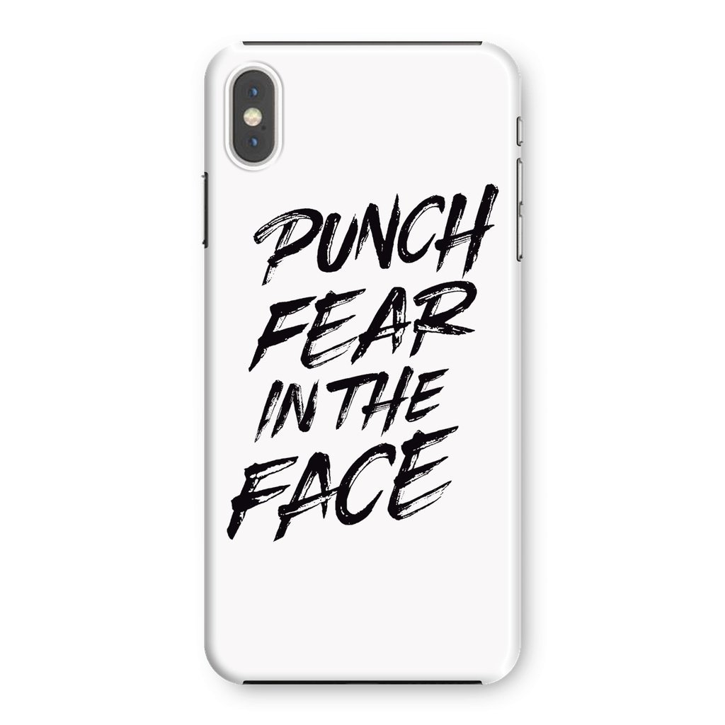 Punch Fear in the Face Black Phone Case Phone kite.ly iPhone XS Max Snap Gloss
