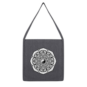 Mandala Tote Bag Bag kite.ly Melange Dark Heather