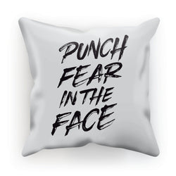 Punch Fear in the Face Black Cushion