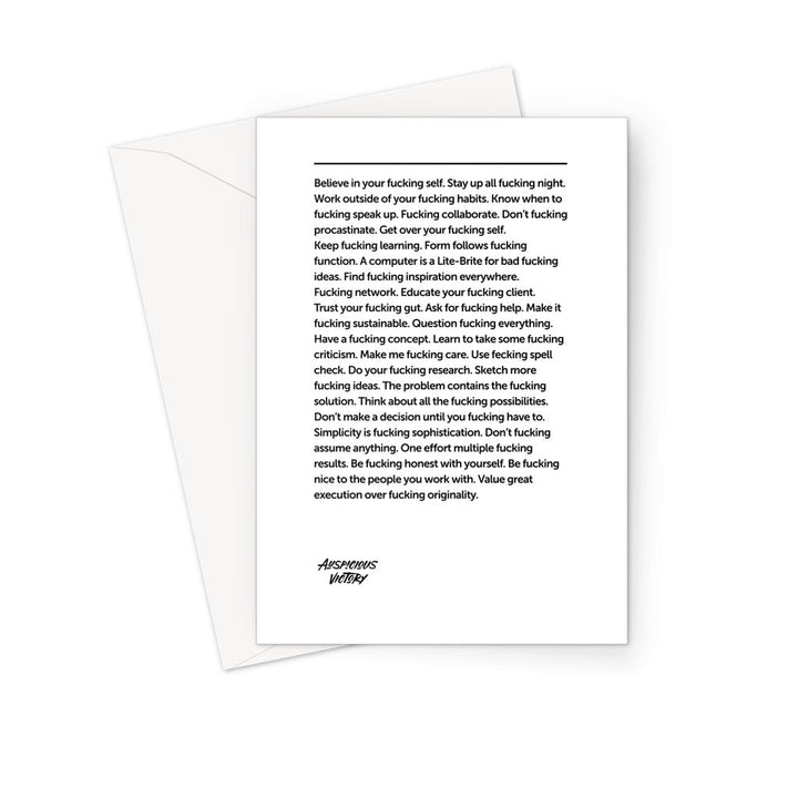 F*cking Inspiration Greeting Card Prints kite.ly 1 Card
