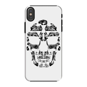 Kitten Skull Black Phone Case Phone kite.ly iPhone X Tough Gloss