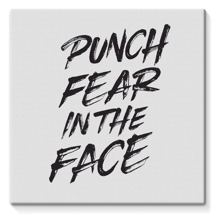 Punch Fear in the Face Black Canvas Canvas kite.ly 10