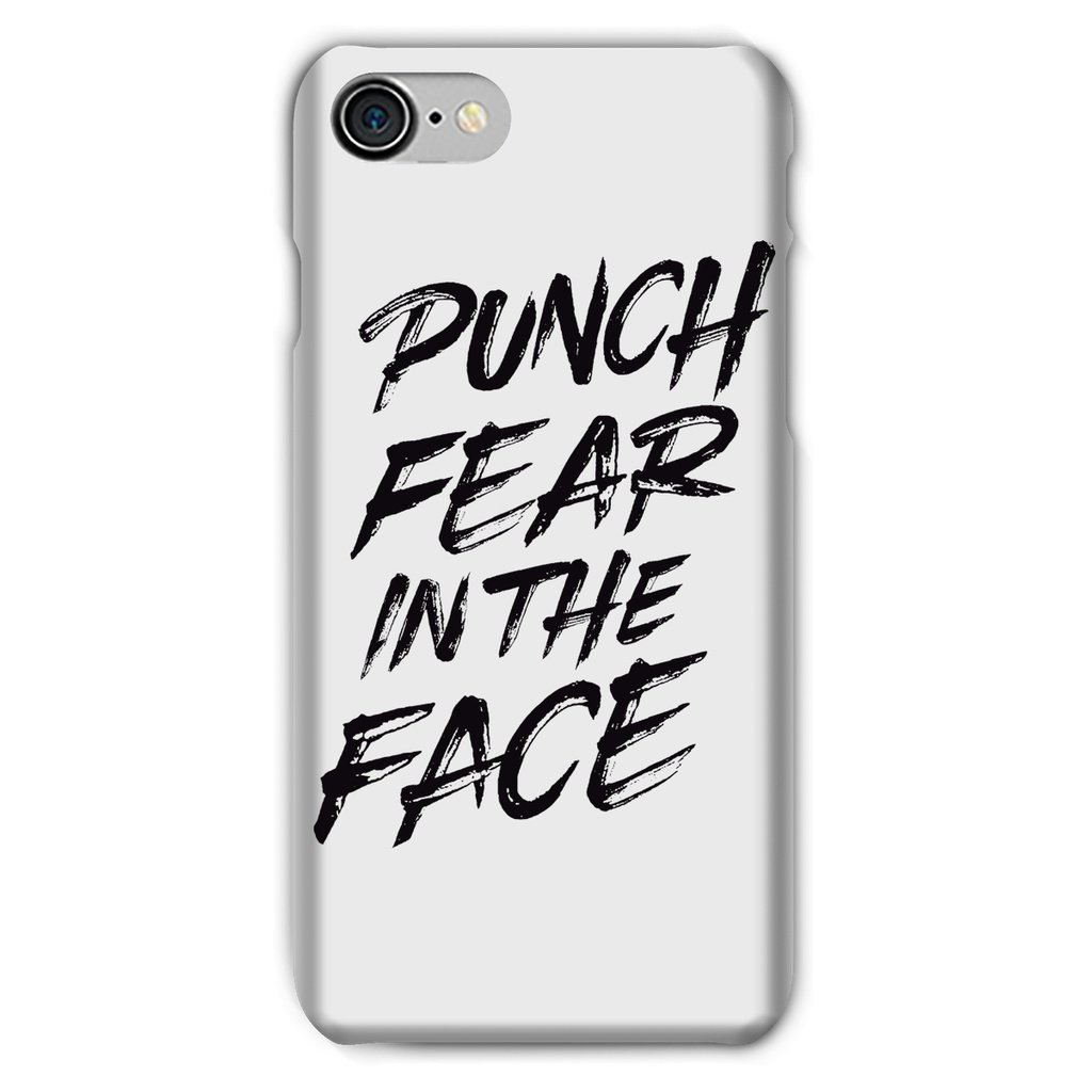 Punch Fear in the Face Black Phone Case Phone kite.ly iPhone 8 Snap Gloss