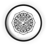 Mandala White - Wall clock Wall Clock Printify 10 in Black White
