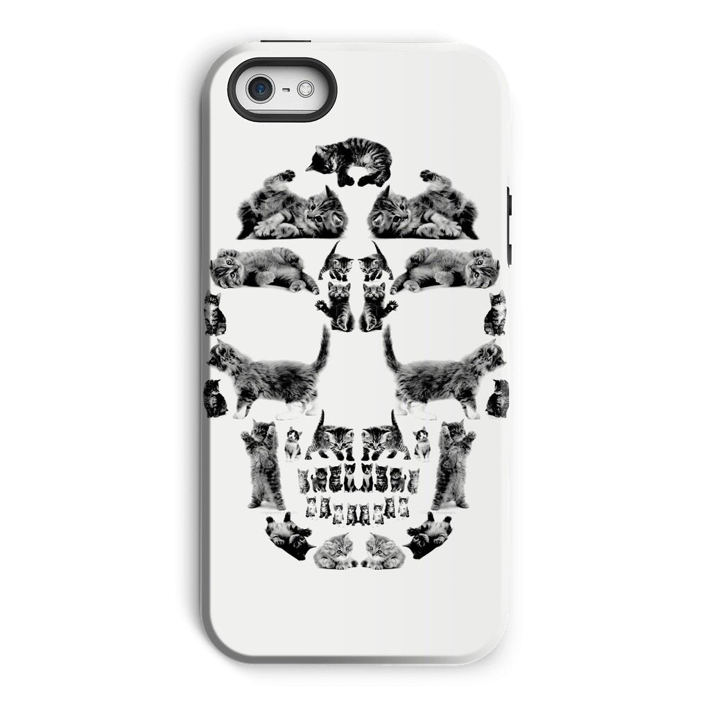 Kitten Skull Black Phone Case Phone kite.ly iPhone 5/5s Tough Gloss