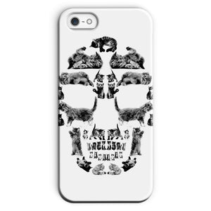 Kitten Skull Black Phone Case Phone kite.ly iPhone 5/5s Snap Gloss