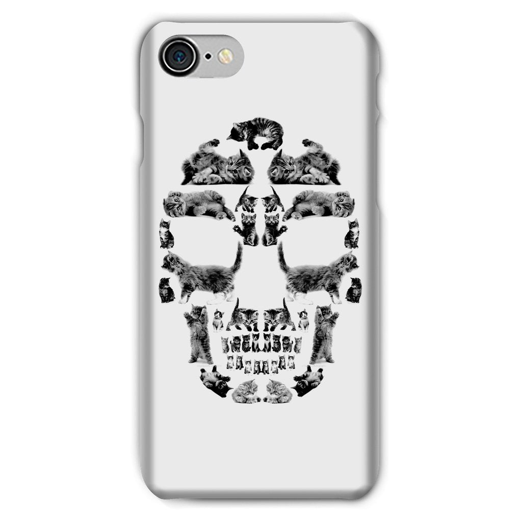 Kitten Skull Black Phone Case Phone kite.ly iPhone 8 Snap Gloss
