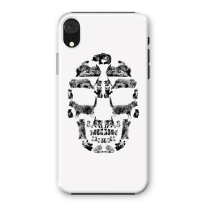 Kitten Skull Black Phone Case Phone kite.ly iPhone XR Snap Gloss