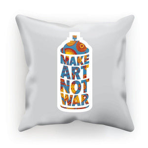 "Make Art Not War African Pattern Cushion Cushion kite.ly Faux Suede 12""x12"""