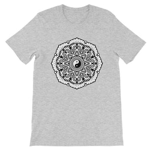 Mandala Unisex Short Sleeve T-Shirt T-Shirt kite.ly S Athletic Heather