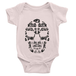 Kitten Skull Black Baby Bodysuit