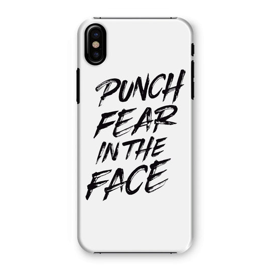 Punch Fear in the Face Black Phone Case Phone kite.ly iPhone XS Snap Gloss