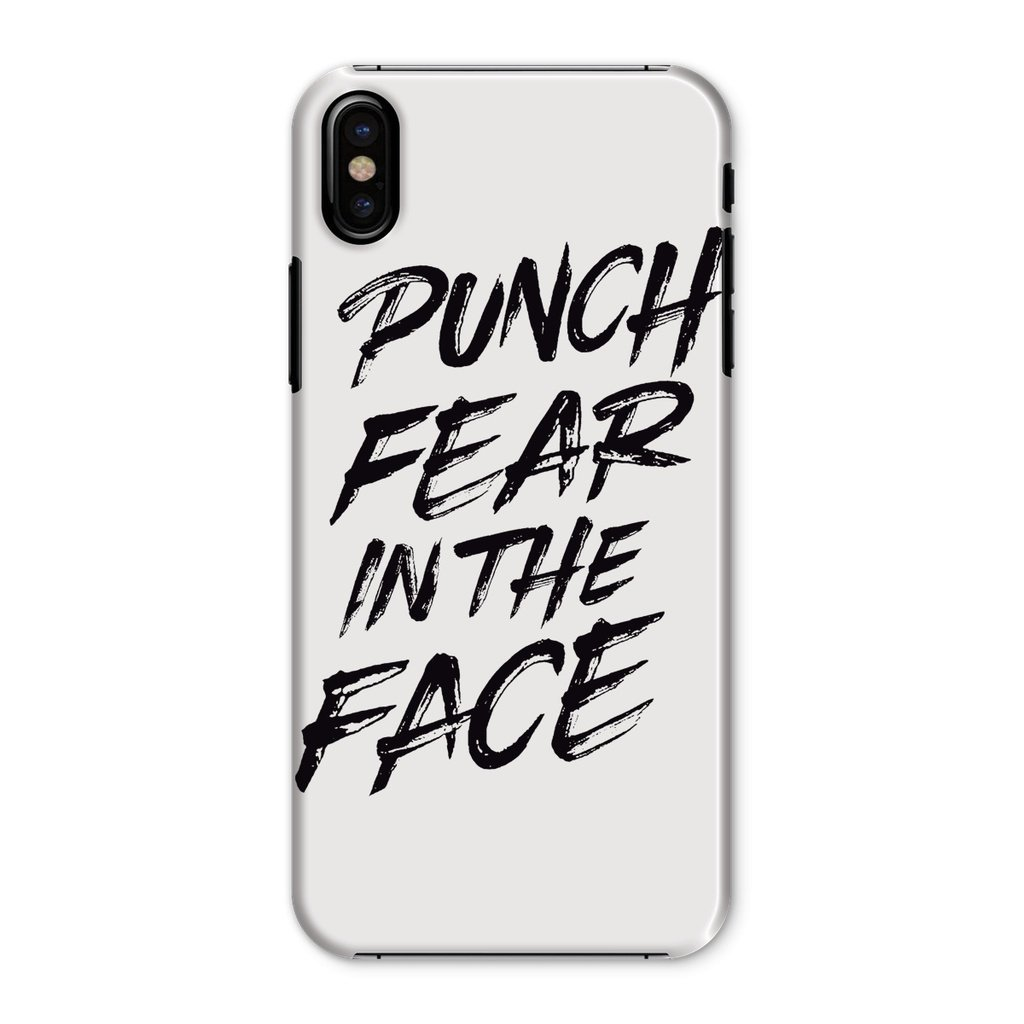 Punch Fear in the Face Black Phone Case Phone kite.ly iPhone X Snap Gloss