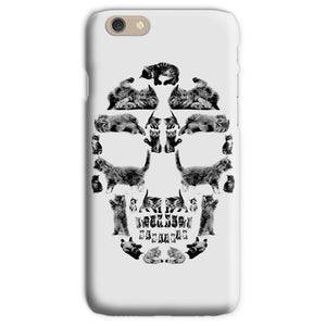 Kitten Skull Black Phone Case Phone kite.ly iPhone 6s Snap Gloss