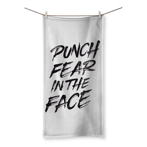 "Punch Fear in the Face Black Towel Towel kite.ly 19.7""x39.4"""