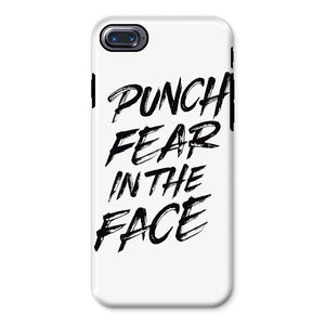 Punch Fear in the Face Black Phone Case Phone kite.ly iPhone 8 Tough Gloss