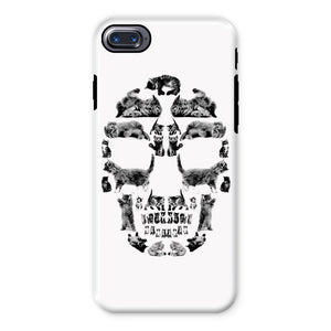 Kitten Skull Black Phone Case Phone kite.ly iPhone 7 Tough Gloss