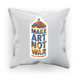 Make Art Not War African Pattern Cushion