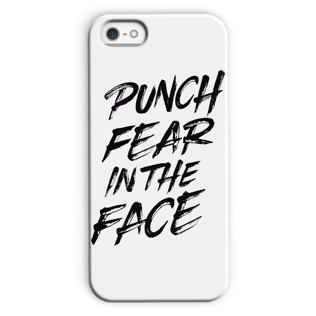 Punch Fear in the Face Black Phone Case Phone kite.ly iPhone 5c Snap Gloss