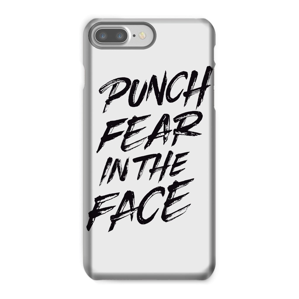 Punch Fear in the Face Black Phone Case Phone kite.ly iPhone 8 Plus Snap Gloss