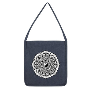 Mandala Tote Bag Bag kite.ly Melange Navy
