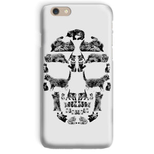 Kitten Skull Black Phone Case Phone kite.ly iPhone 6 Snap Gloss