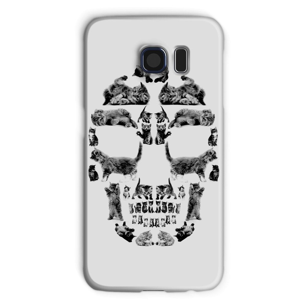 Kitten Skull Black Phone Case Phone kite.ly Galaxy S6 Snap Gloss