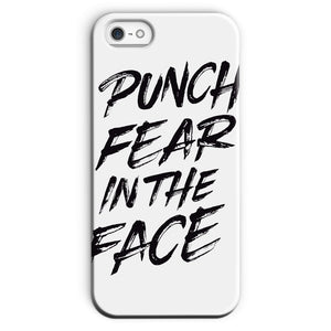 Punch Fear in the Face Black Phone Case Phone kite.ly iPhone SE Snap Gloss