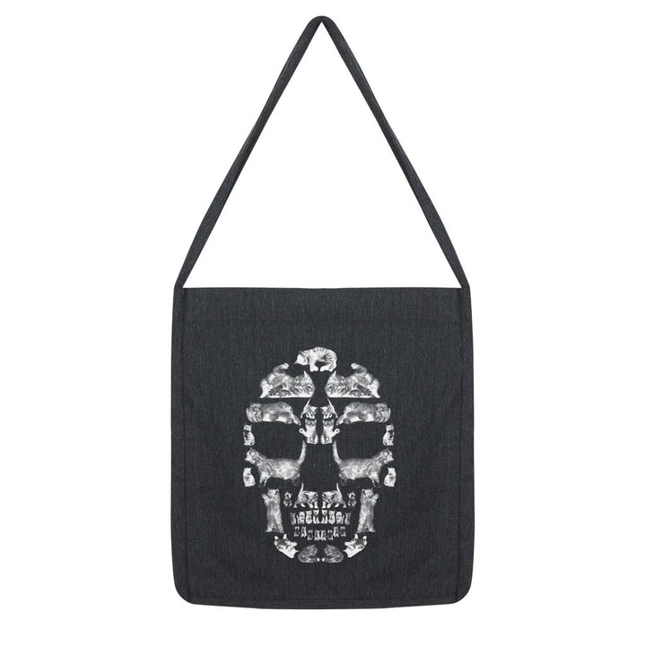 Kitten Skull White Tote Bag