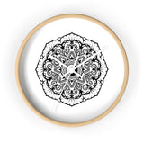 Mandala White - Wall clock Wall Clock Printify 10 in Wooden White