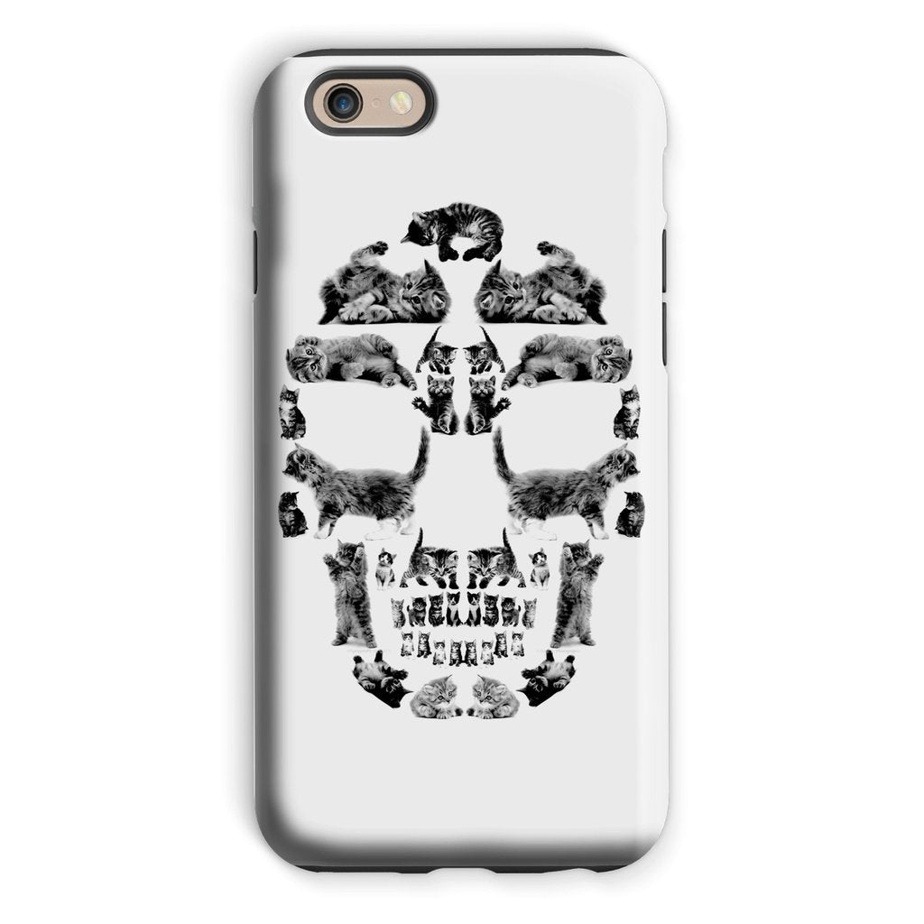 Kitten Skull Black Phone Case Phone kite.ly iPhone 6s Tough Gloss