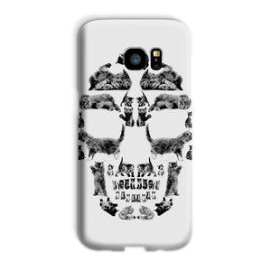 Kitten Skull Black Phone Case Phone kite.ly Galaxy S7 Edge Snap Gloss