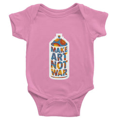 Make Art Not War African Pattern Baby Bodysuit