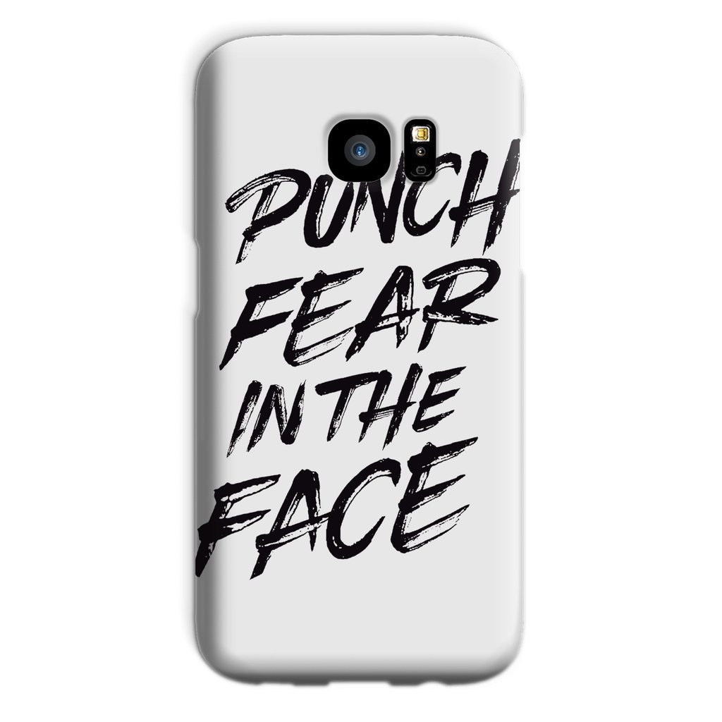 Punch Fear in the Face Black Phone Case Phone kite.ly Galaxy S7 Snap Gloss