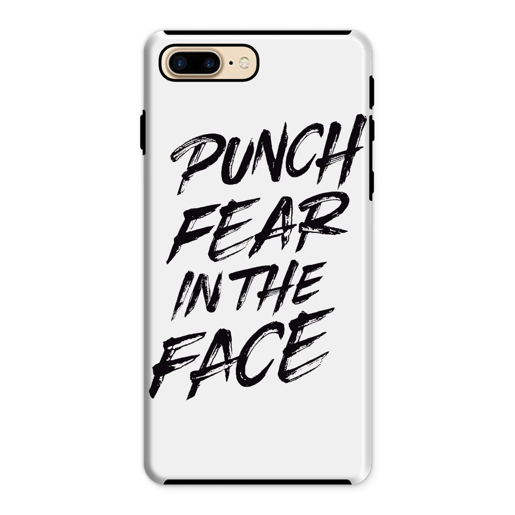 Punch Fear in the Face Black Phone Case Phone kite.ly iPhone 8 Plus Tough Gloss