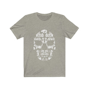 Kitten Skull - White - Unisex Jersey Short Sleeve Tee T-Shirt Printify Heather Stone XS