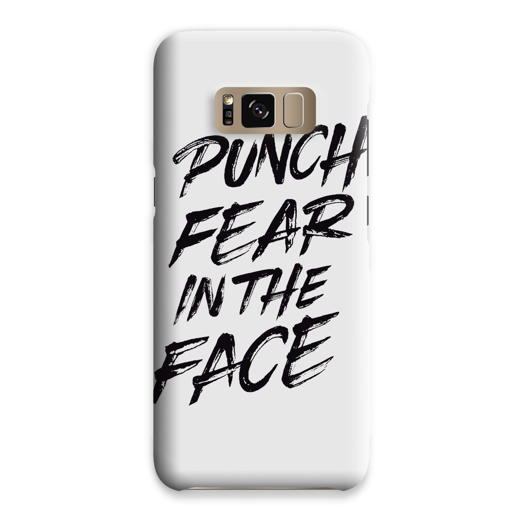 Punch Fear in the Face Black Phone Case Phone kite.ly Samsung S8 Snap Gloss