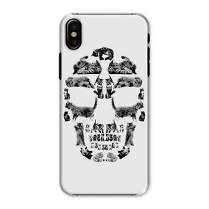 Kitten Skull Black Phone Case Phone kite.ly iPhone X Snap Gloss