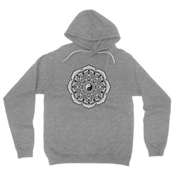 Mandala Fleece Pullover Hoodie Hoodie kite.ly S Deep Heather