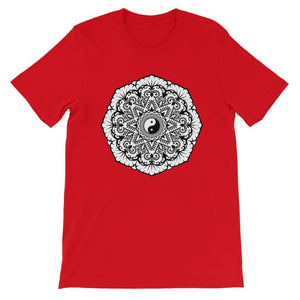 Mandala Unisex Short Sleeve T-Shirt T-Shirt kite.ly S Red