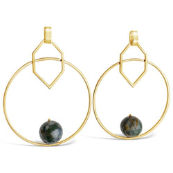 Bard Geometric Big Hoop Earirng