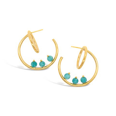 Ardsley Multi Stone Galaxy Hoop Earring