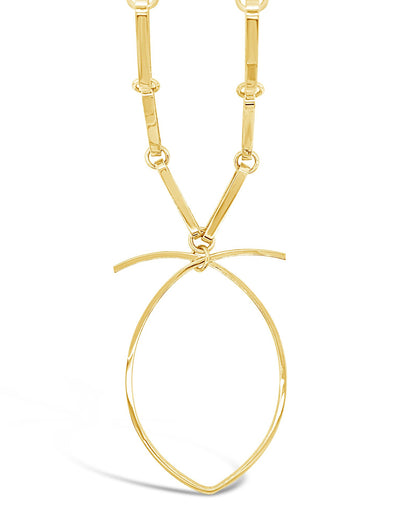 Ross Link Necklace with Big Pear Drop