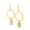 Burns Faceted Dangle Drop Earrings