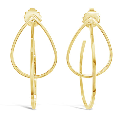 Lloyd Double Pear Satellite Earrings