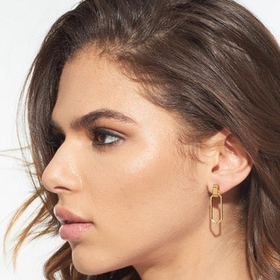 Palmer Geo Drop Post Earrings