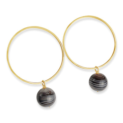 Reiss Parallel Earrings with Orbs