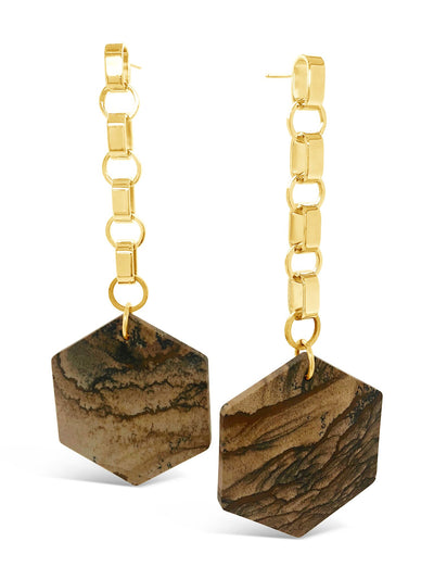 Laight Hexagonal Drop Earrings