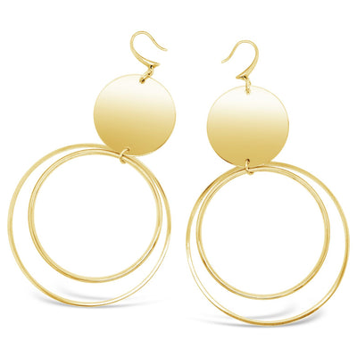 Hadley Disk Hoop Earrings