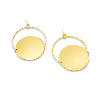 Fallon Hoop and Disk Earring